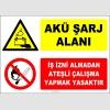 ZY2296 - Akü Şarj Alanı, İş İzni Almadan Ateşli Çalışma Yapmak Yasaktır