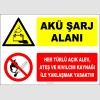 ZY2297 - Akü Şarj Alanı, Her Türlü Açık Alev, Ateş ve Kıvılcım Kaynağı İle Yaklaşmak Yasaktır