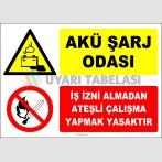ZY2311 - Akü Şarj Odası, İş İzni Almadan Ateşli Çalışma Yapmak Yasaktır
