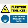 ZY2336 - ISO 7010 Elektrik Tehlikesi, Topraklama Bağlantısını Yapın