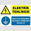 ZY2339 - ISO 7010 Elektrik Tehlikesi, Kablo ve Hat Bakımlarında Kısa Devre Ve Topraklamayı Mutlaka Yap