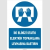 ZY2345 - İki Elinizi Statik Elektrik Topraklama Levhasına Bastırın