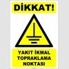 ZY2355 - Dikkat! Yakıt İkmal Topraklama Noktası