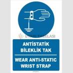 ZY2363 - Türkçe İngilizce Antistatik Bileklik Tak, Wear Anti-static Wrist Strap