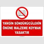 ZY2449  - Yangın Söndürücülerin Önüne Malzeme Koymak Yasaktır