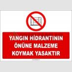 ZY2432  - Yangın Hidrantının Önüne Malzeme Koymak Yasaktır