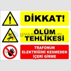 ZY2470 - Dikkat! Ölüm Tehlikesi, Trafonun Elektriğini Kesmeden İçeri Girme