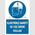 ZY2485 - Elektrikçi Bareti ve Yüz Siperi Kullan