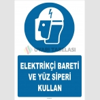 ZY2484 - Elektrikçi Bareti ve Yüz Siperi Kullan