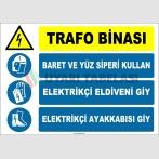 ZY2488 - Trafo Binası, Baret ve Yüz Siperi Kullan, Elektrikçi Eldiveni Giy, Elektrikçi Ayakkabısı Giy