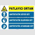 ZY2510 - Patlayıcı Ortam, Antistatik Giysi, Eldiven, Ayakkabı Giy