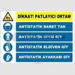 ZY2514 - Patlayıcı Ortam, Antistatik Baret, Giysi, Eldiven, Ayakkabı Giy
