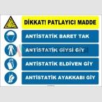 ZY2515 - Patlayıcı Madde, Antistatik Baret, Giysi, Eldiven, Ayakkabı Giy