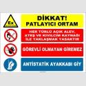 ZY2516 - Dikkat! Patlayıcı Ortam İkaz Levhası