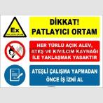 ZY2518 - Dikkat! Patlayıcı Ortam İkaz Levhası