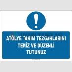 ZY2586 - Atölye Takım Tezgahlarını Temiz ve Düzenli Tutunuz