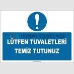 ZY2598 - Lütfen Tuvaletleri Temiz Tutunuz