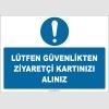 ZY2747 - Lütfen Güvenlikten Ziyaretçi Kartınızı Alınız
