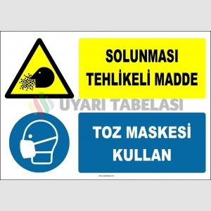 ZY2777 - Solunması Tehlikeli Madde, Toz Maskesi Kullan