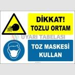 ZY2772 - Dikkat! Tozlu Ortam, Toz Maskesi Kullan