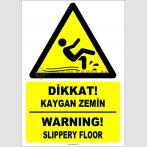 ZY2792 - Türkçe İngilizce Dikkat! Kaygan Zemin, Warning! Slippery Floor
