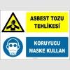 ZY2824 - Asbest Tozu Tehlikesi, Koruyucu Maske Kullan