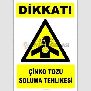 ZY2865 - Dikkat! Çinko Tozu Soluma Tehlikesi