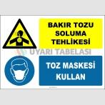 ZY2893 - Bakır Tozu Soluma Tehlikesi, Toz Maskesi Kullan