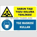 ZY2908 - Sabun Taşı Tozu Soluma Tehlikesi, Toz Maskesi Kullan
