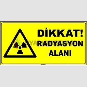 ZY2911 - ISO 7010 Dikkat Radyasyon Alanı