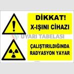 ZY2913 - Dikkat! X-Işını Cihazı, Çalıştırıldığında Radyasyon Yayar