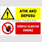 ZY2943 - Atık Akü Deposu, Görevli Olmayan Giremez