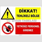 ZY2965 - Dikkat! Tehlikeli Bölge, Yetkisiz Personel Giremez