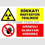 ZY2981 - Dikkat! Radyasyon Tehlikesi, Görevli Olmayan Giremez