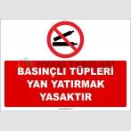 ZY3026 - Basınçlı Tüpleri Yan Yatırmak Yasaktır