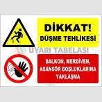 ZY3073 - Düşme Tehlikesi, Balkon, Merdiven, Asansör Boşluklarına Yaklaşma