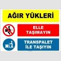 ZY3121 - Ağır Yükleri Elle Taşımayın, Transpalet İle Taşıyın