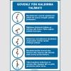 ZY3105 - Güvenli Yük Kaldırma Talimatı İkaz Levhası/Tabelası