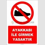 EF1127 - Ayakkabı ile Girmek Yasaktır