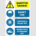 EF1144 - Şantiye Sahası, Baret Tak, Fosforlu Yelek Giy, Koruyucu Ayakkabı Giy