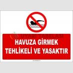 EF1174 - Havuza Girmek Tehlikeli ve Yasaktır