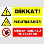 EF1182 - Dikkat! Patlatma Sahası, Girmek Tehlikeli ve Yasaktır