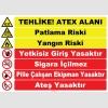 EF1196 - Tehlike! ATEX Alanı Levhası