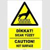EF1223 - Türkçe İngilizce Dikkat! Sıcak Yüzey, Caution! Hot Surface