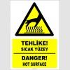 EF1224 - Türkçe İngilizce Tehlike! Sıcak Yüzey, Danger! Hot Surface