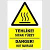 EF1233 - Türkçe İngilizce Tehlike! Sıcak Yüzey, Danger! Hot Surface