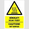 EF1234 - Türkçe İngilizce Dikkat! Sıcak Yüzey, Caution! Hot Surface