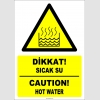 EF1237 - Türkçe İngilizce Dikkat! Sıcak Su, Caution! Hot Water
