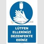 EF1248 - Lütfen Ellerinizi Dezenfekte Ediniz