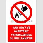 EF1314 - Yağ, Boya ve Akaryakıt Yangınlarında Su Kullanmayın